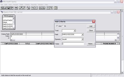 sql query exles tutorial run an sql query with a parameter from excel 2007 super user