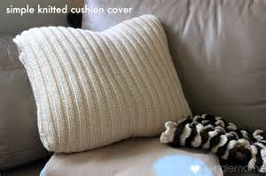 Knitted Cushions Free Patterns Knit A Simple Cushion Cover Free Pattern Veggie