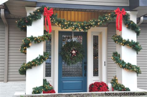 christmas decorating outdoor columns 2013 house updated