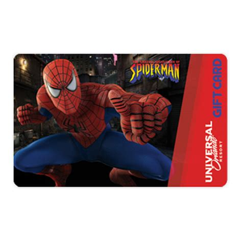 Gift Card Universal - your wdw store universal collectible gift card spider man
