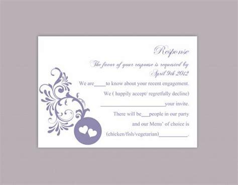 diy wedding rsvp template editable word file instant