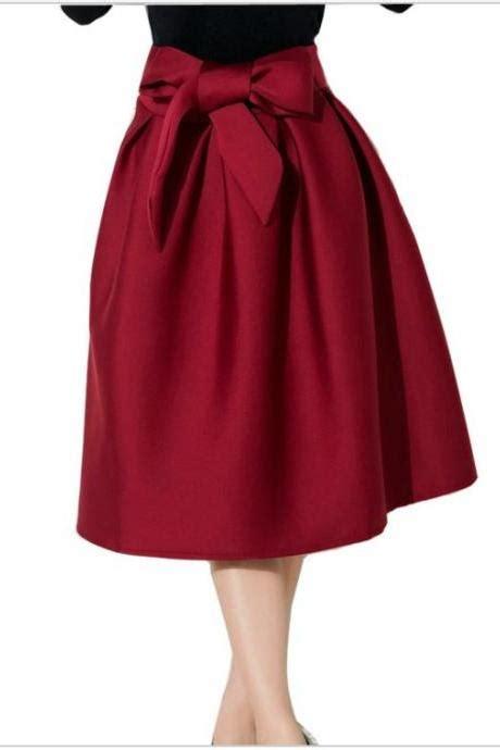 Impor Layer Bow Black White Mini Midi Skirt Flare Rok Sepan Span Hitam black white spot mini shirt on luulla