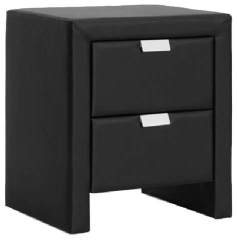 Modern Black Nightstands Frey Black Upholstered Modern Nightstand Contemporary Nightstands And Bedside Tables By