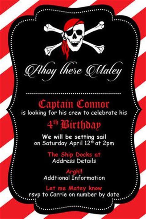 digital birthday card templates pirate birthday digital printable invitation template me