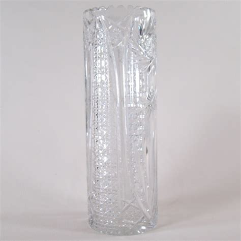 large cut glass cylinder vase dtr antiques
