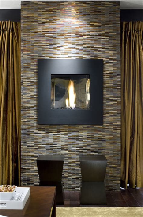 avani glass mosaic fireplace