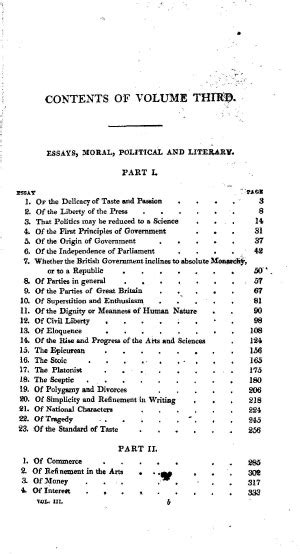 Essays Moral Political And Literary Hume Pdf by The Philosophical Works Of David Hume Vol 3 Essays Moral Political And Literary