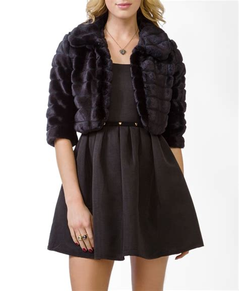 Cropped Fur Jackets by