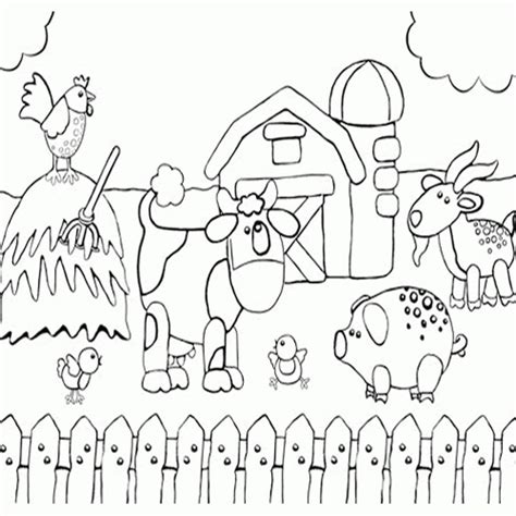 coloring page house preschool farm coloring pages preschool coloring home