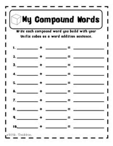 christmas compound words worksheet compound words on pinterest compound words reading