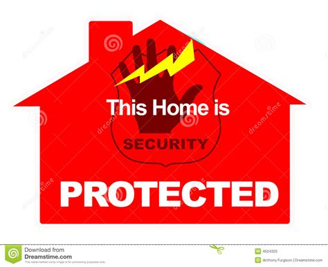 marketing home alarm security stock photo image 4504320