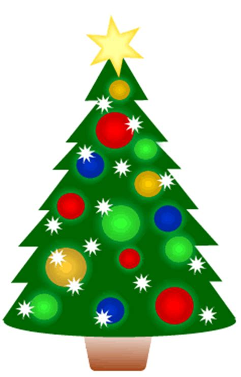 cartoon christmas tree december free clipart animated tree set