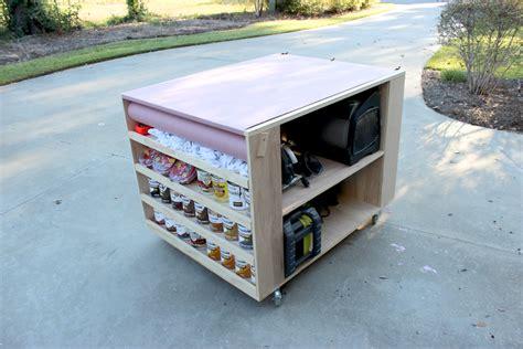 garage bench and storage diy portable workbench with storage free plans