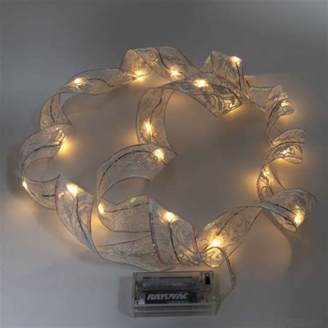 white christmas ribbon led lights