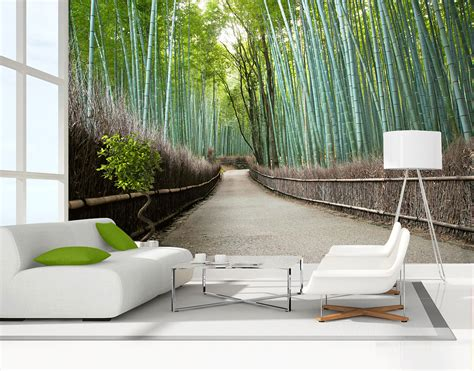 wall stickers murals bamboo grove wall mural your decal shop nz designer