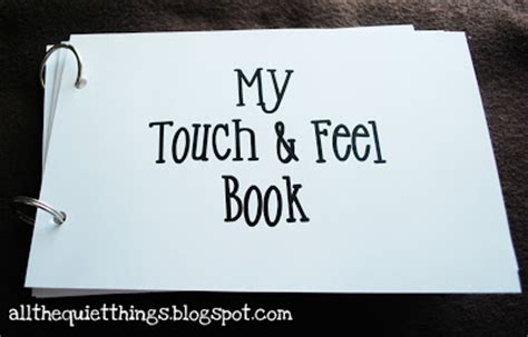 touch books all the things diy touch and feel book