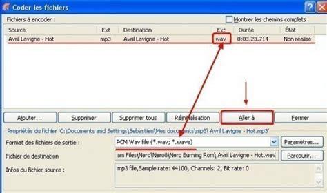 convertir format audio en wav nero convertir un mp3 en wav astuces pratiques
