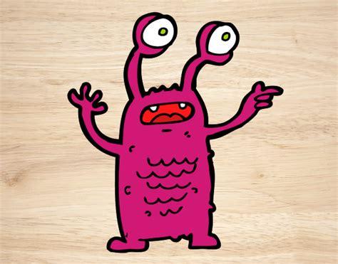 ojos salidos dibujo de extraterrestre con los ojos salidos pintado por