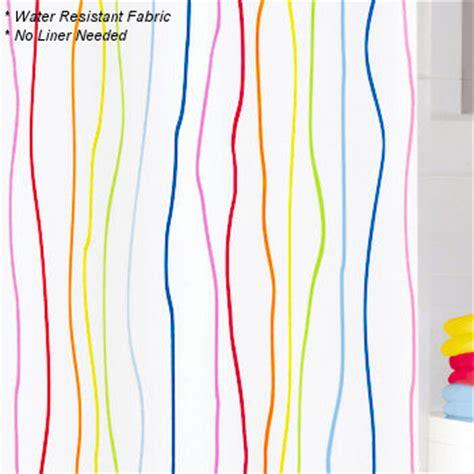 Kate Spade Striped Shower Curtain Bright Colored Striped Shower Curtain Curtain