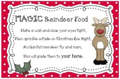 magic reindeer food poem template magic reindeer food recipe