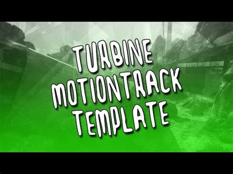 motion track template turbine motion track template element 3d