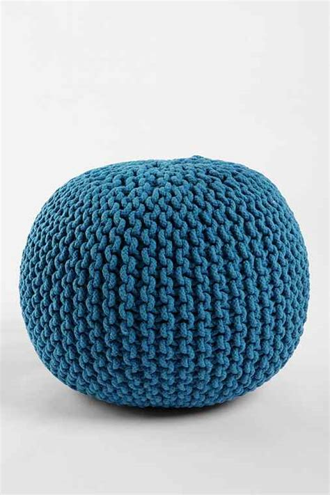 Cable Knit Ottoman Cable Knit Pouf Outfitters