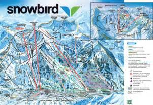 Snowbird Utah Map by Snowbird Skigenie