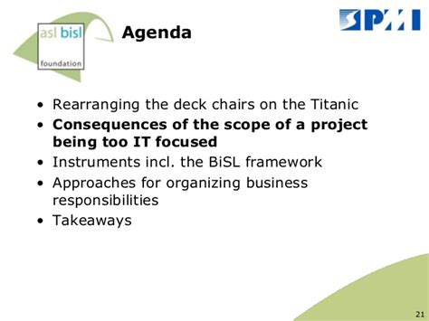 Rearranging Deck Chairs On The Titanic by How To Rearrange The Deck Chairs On The Titanic Pmi