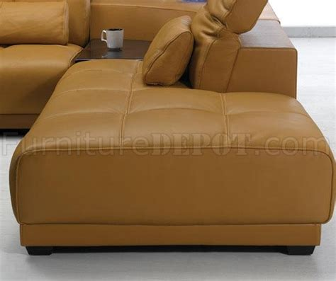 camel color sofa camel leather modern sectional sofa 697