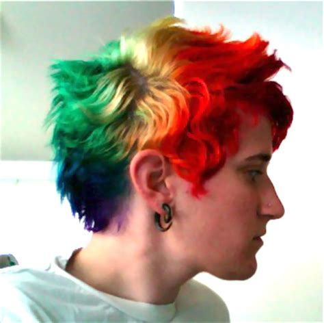 rainbow hair by punkgrrrl16 on DeviantArt