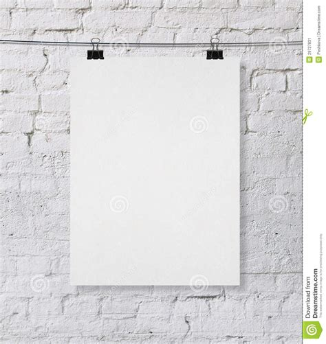 wall post template blank poster stock illustration image of sheet empty