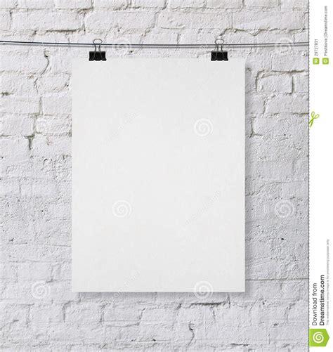 wall post template blank poster stock illustration illustration of sheet