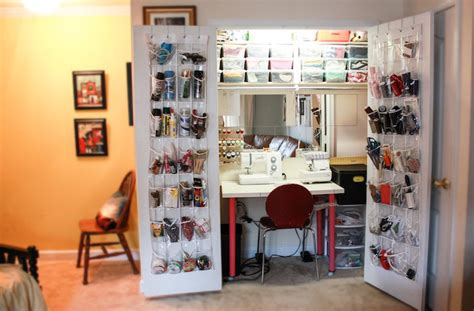 How To Organize A Garage by My Sewing Closet One Litte Minute