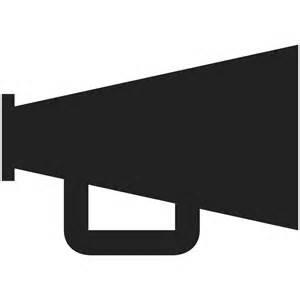 megaphone silhouette file echo notifications megaphone svg wikimedia commons