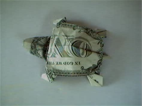 Origami Turtle Dollar Bill - origami