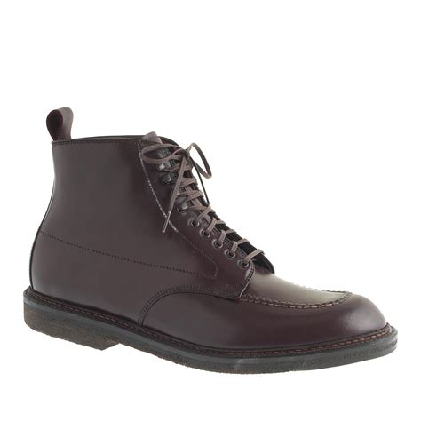 alden cordovan 405 indy boots in purple for