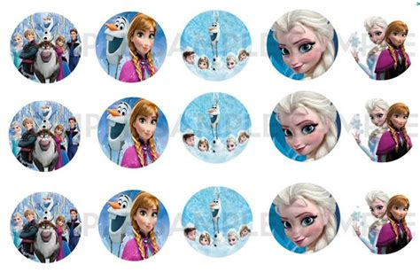 printable stickers frozen printable stickers bottle caps toppers decor etc
