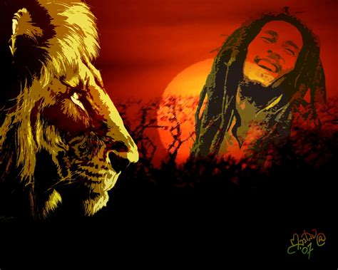 bob marley and lion wallpaper wallpapersafari
