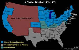 united states map after civil war maps usa map during the civil war