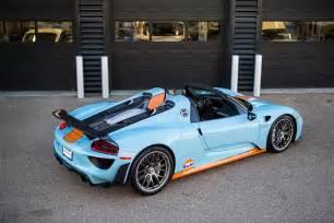 Gulf Livery Porsche For Sale One Stunning Gulf Livered Porsche 918 Spyder