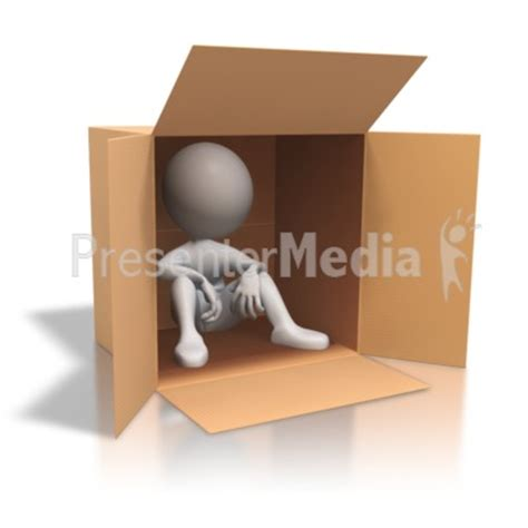 figure in box stick figure cardboard box homeless home and lifestyle
