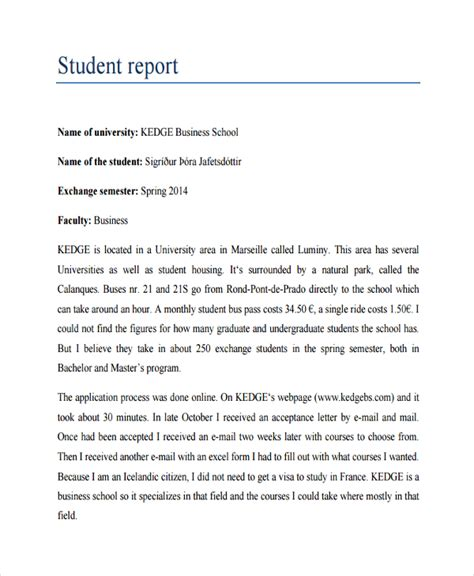 Business Letter Student Exles sle business reports for students 28 images report