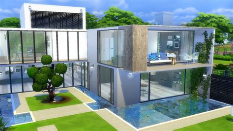 house plans and design modern house plans sims 4 the sims 4 modern house speed build youtube