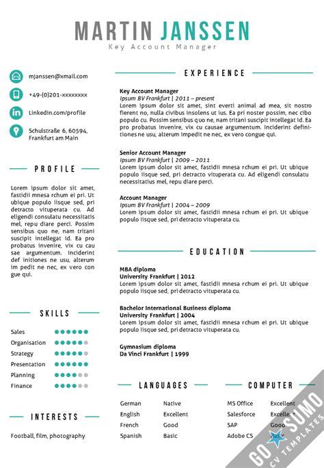 Lebenslauf Vorlage Neuester Stand Cv Resume Template Frankfurt