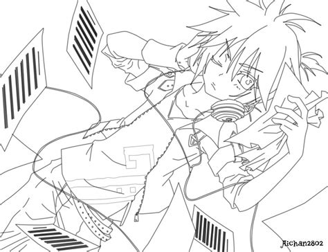 Coloring Anime Vocaloid Base Coloring Pages Vocaloid Coloring Pages