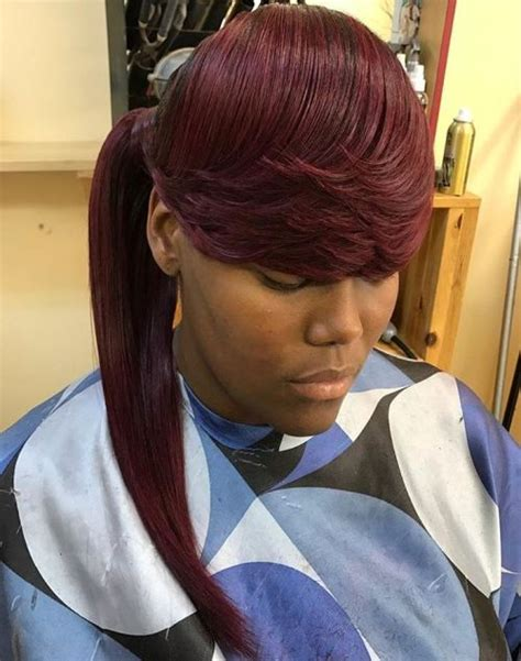 african american swoops and bags hair styles 30 classy black ponytail hairstyles