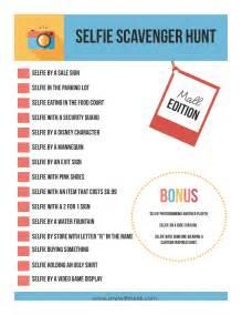 selfie scavenger hunt save more spend less