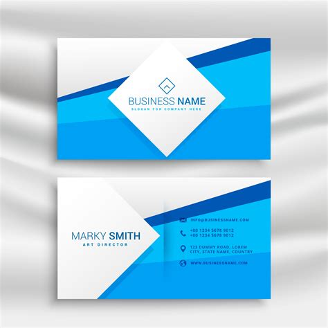 blue business card template psd blue corporate business card template vetores e