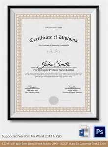 diploma certificate template diploma certificate template 25 free word pdf psd
