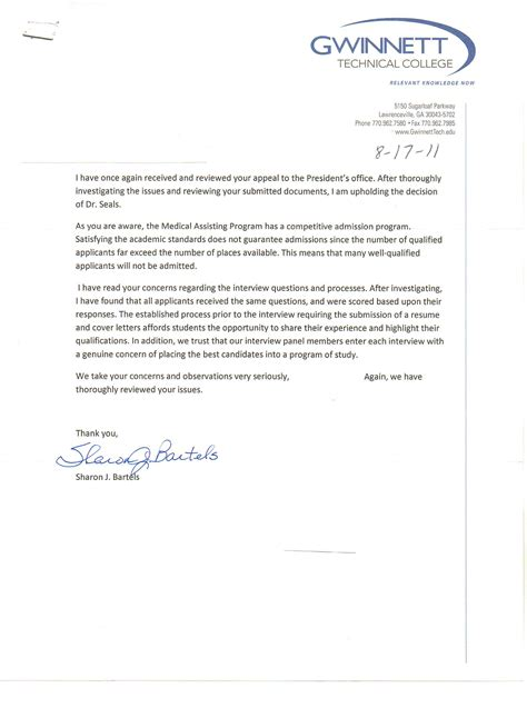 College Appeal Letter For Low Gpa gwinnett tech screens out it s own honor student twice by michele babcock blogbymichele